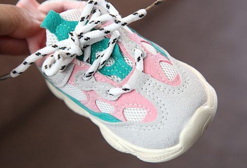 Otoño bebé niña Niño Zapatos Niño Infante Casual zapatos de correr Fondo suave cómodo color de costura niños zapatillas 20