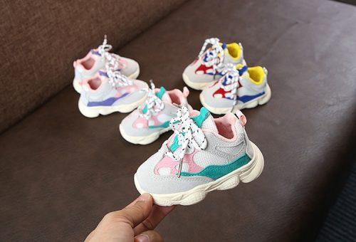 Otoño bebé niña Niño Zapatos Niño Infante Casual zapatos de correr Fondo suave cómodo color de costura niños zapatillas 9