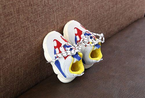 Otoño bebé niña Niño Zapatos Niño Infante Casual zapatos de correr Fondo suave cómodo color de costura niños zapatillas 12