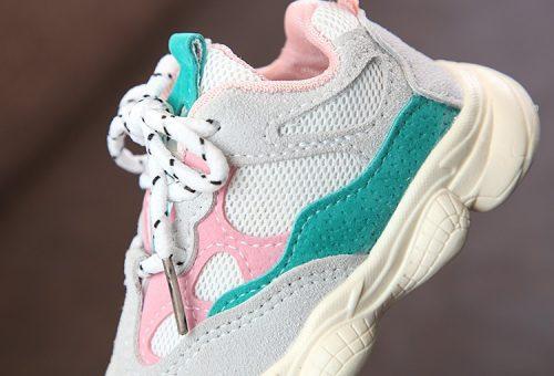 Otoño bebé niña Niño Zapatos Niño Infante Casual zapatos de correr Fondo suave cómodo color de costura niños zapatillas 21