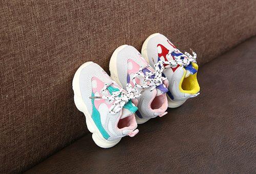 Otoño bebé niña Niño Zapatos Niño Infante Casual zapatos de correr Fondo suave cómodo color de costura niños zapatillas 10