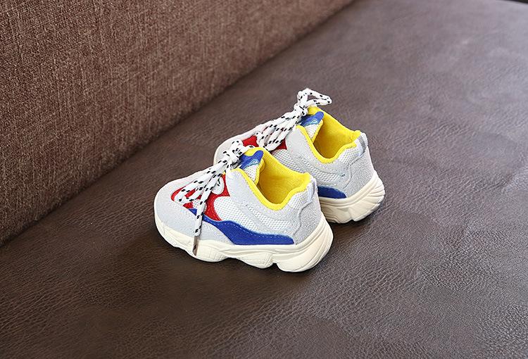 Otoño bebé niña Niño Zapatos Niño Infante Casual zapatos de correr Fondo suave cómodo color de costura niños zapatillas 13