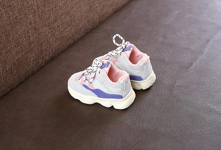 Otoño bebé niña Niño Zapatos Niño Infante Casual zapatos de correr Fondo suave cómodo color de costura niños zapatillas 16