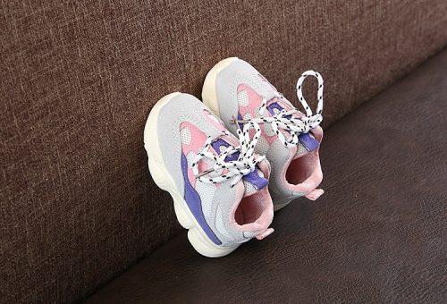 Otoño bebé niña Niño Zapatos Niño Infante Casual zapatos de correr Fondo suave cómodo color de costura niños zapatillas 15