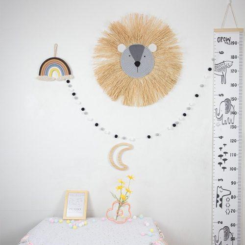 León de rafia para decorar la habitación 2