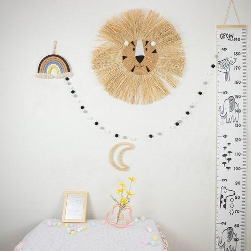 León de rafia para decorar la habitación 3