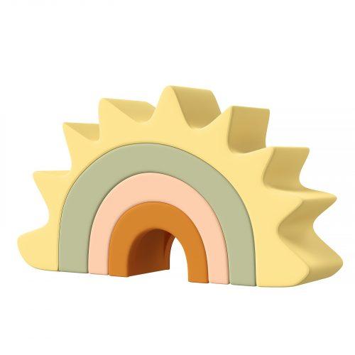TYRY HU 1 Juego de bloques de construcción de silicona bebé mordedor estrella aguacate coche cuadrado geométrico bloque suave plegable juego educativo Juguetes 15