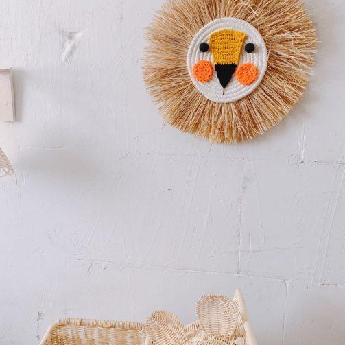 León de crochet y rafia mini 19