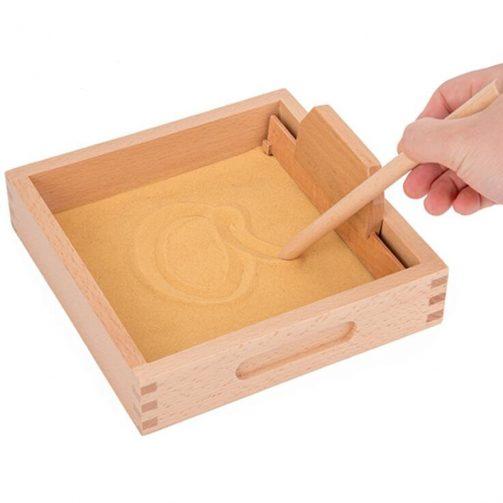 Bandeja de arena montessori para desarrollar la escritura 1